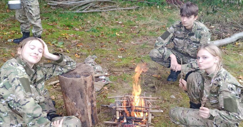 Młodzież na obozie w Zawoi
