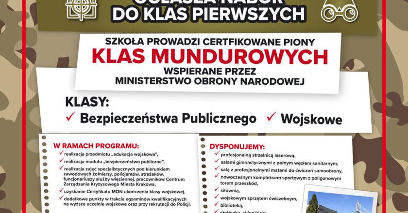 plakat promujący dzień otwarty szkoły