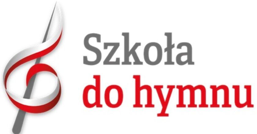 """plakat informujący o akcji """"Szkoła do hymnu"""""""